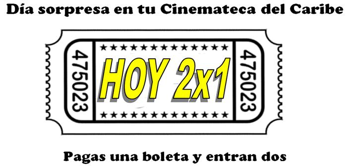 HOY 30 DE OCTUBRE DÍA SORPRESA EN LA CINEMATECA DEL CARIBE