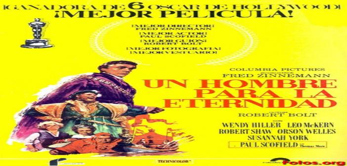 UN HOMBRE PARA LA ETERNIDAD Cine foro Cinexcusa Sala Boston 12 de mayo 6:00 pm