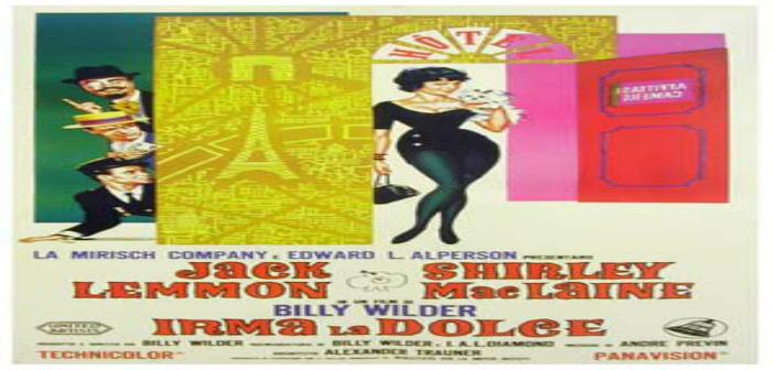 IRMA LA DULCE Cine foro Cinexcusa Sala Boston 30 de junio 05:45 pm Entrada Libre
