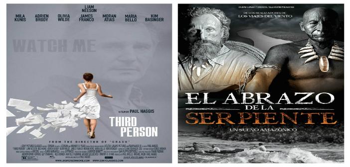 AMORES INFIELES Junio 4 a 10 4:30 y 7:00 p.m. EL ABRAZO DE LA SERPIENTE Junio 4 a 9. 9:00 p.m. Sala Country (Calle 76 No. 57-61).