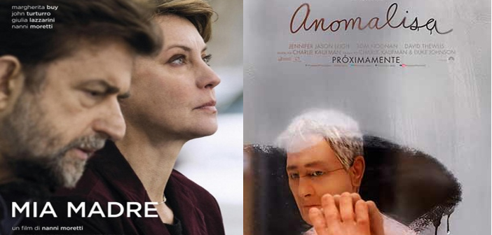 CARTELERA SALA COUNTRY MIA MADRE.  Abril 7 a 13:  4:00 y 8:30 p.m. y ANOMALISA.  Abril 7 a 13: 6:15 p.m.